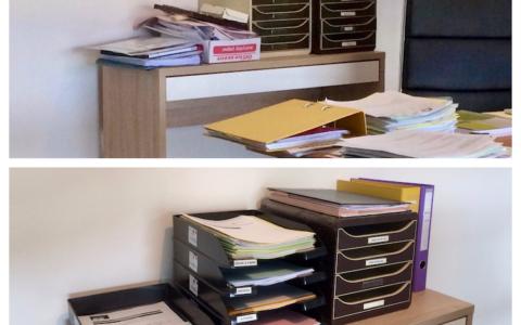 Réorganisation des solutions de classement dans le bureau d'un PDG