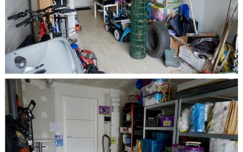 Désencombrement et rangement d'un garage